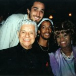 Tito Puente, Quino, Lance Rhodes  drummer Big Mountain, Celia Cruz